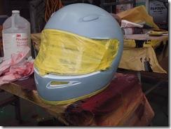 バイクのヘルメット、カラーチェンジ!