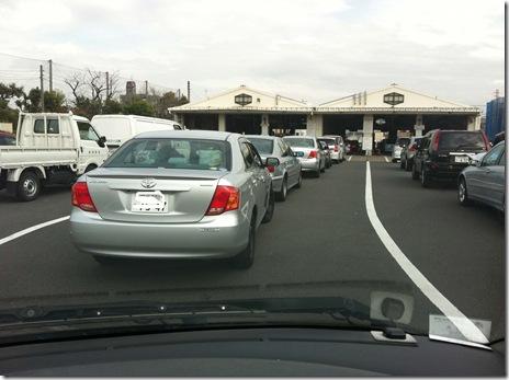 足立の車検所は今日も混んでた